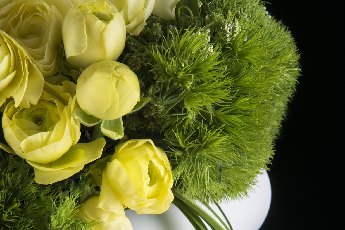 décoration mariage renoncule