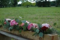 caisse en bois fleurie mariage champêtre