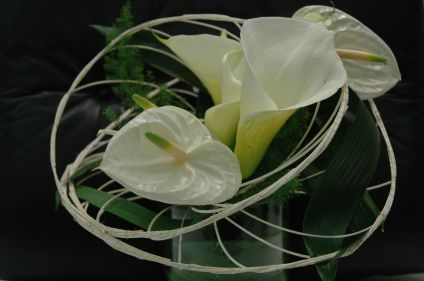 bouquet callas et anthurium