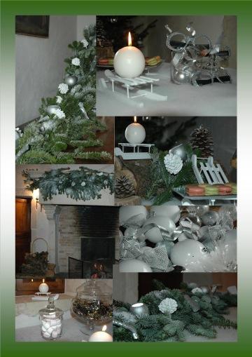 mariage thème hiver blanc argent et sapin