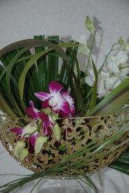 orchidées et or