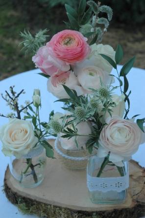 renoncule chardon roses