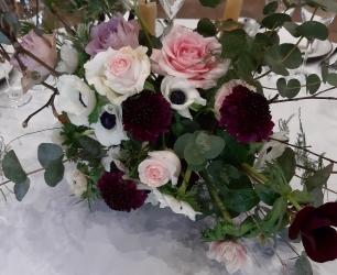 scabiosa renoncule anémones style champêtre romantique