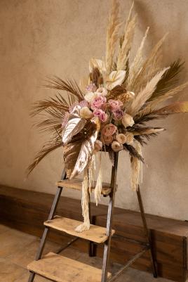 mariage boheme vintage chic herbe de pampas