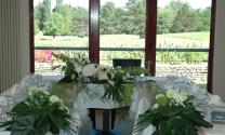 table d'honneur mariage blanc et vert
