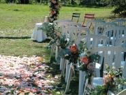 allée fleurie cérémonie laïque